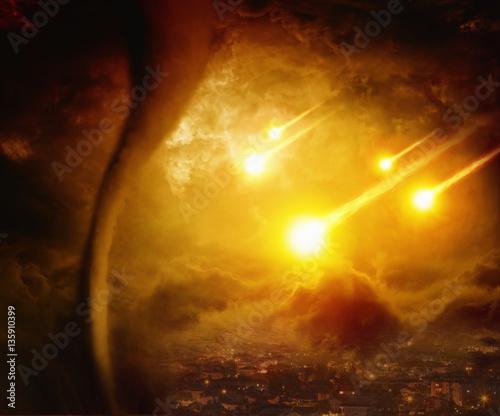 Fotografie, Obraz Dramatic apocalyptic background, end of world