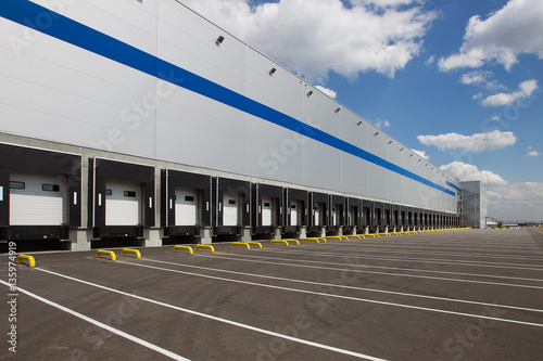 Fotografie, Tablou modern logistics center