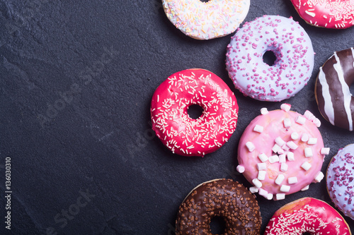 Foto Beauty assorted donuts