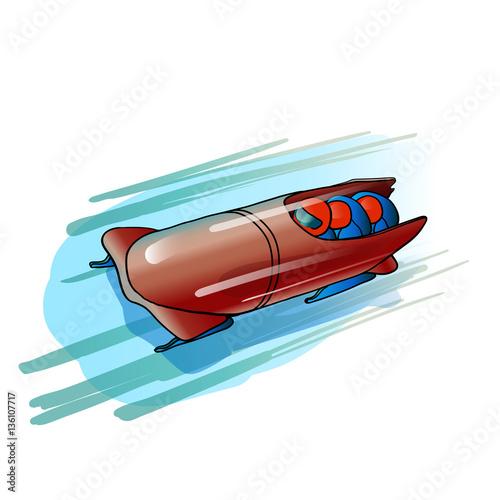 Obraz na płótnie bobsleigh, , crew,  ice