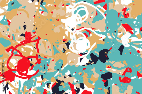 Wide background with paint daub - vector illustration