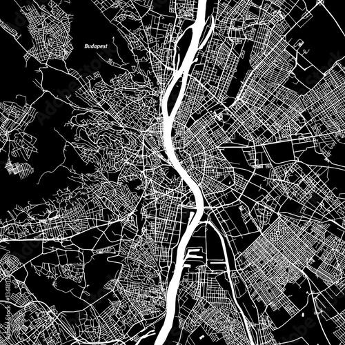 Wallpaper Mural Budapest Vector Map