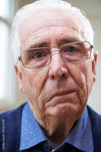 Photo Portrait Of Senior Man Suffering From Stroke