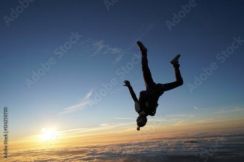 Obraz na plátně Sunset Skydive