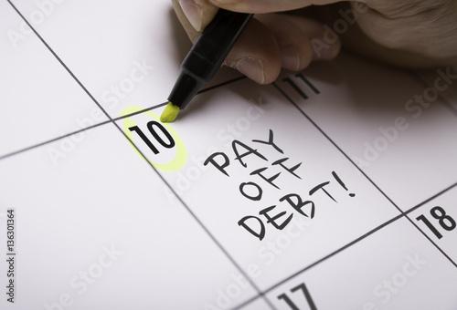 Pay Off Debt! Fototapet