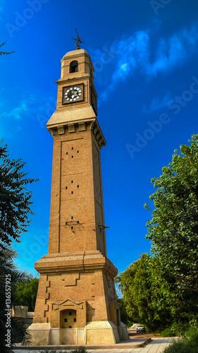 Exterior view to Al-Qashla Clock clocktower Baghdad, Iraq