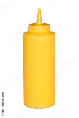 Fototapeta Squeeze bottle of mustard