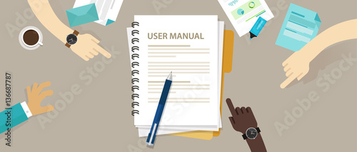 Obraz na plátně user guide manual instruction book document paper reference