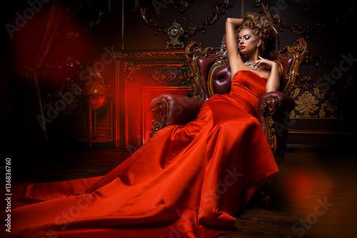 Obraz na plátne glamorous lady