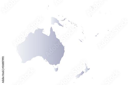 Photo map oceania gray