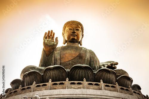 Buddha, Tian Tan Buddha at Po Lin Monastery in Hong Kong