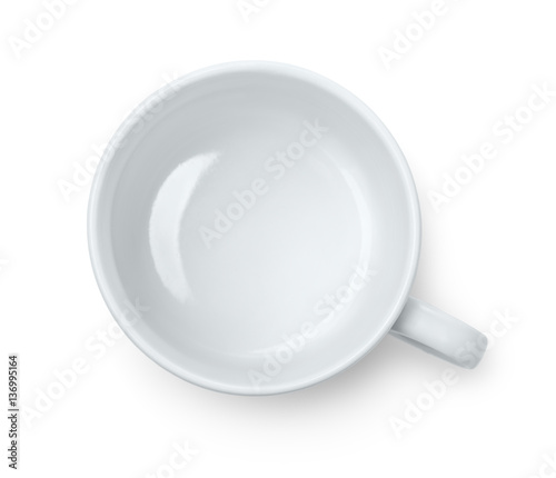 Top view of empty coffee cup