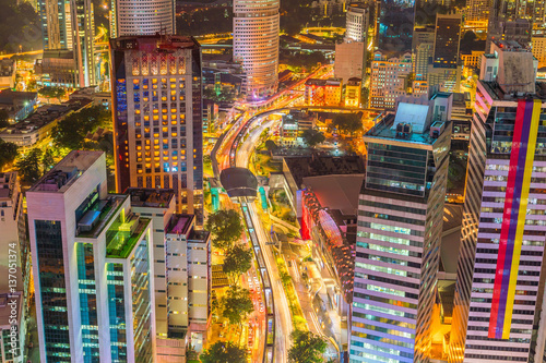Fototapeta premium Downtown Kuala Lumpur skyline at twilight