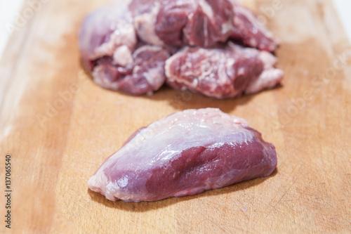 Fotografija meat cheek pieces of iberian pig