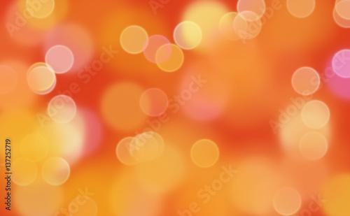 Canvas-taulu Bokeh in rood en oranje