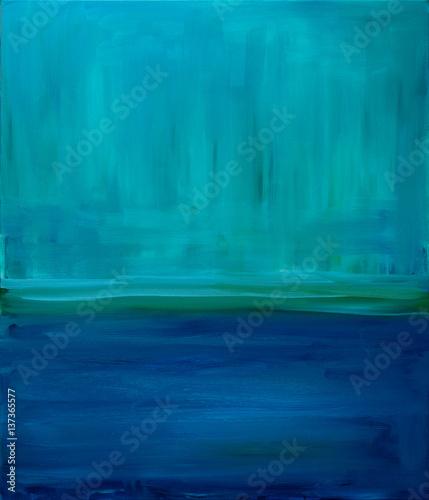 Plakat Błękitna abstrakcja w kategorii malarstwo