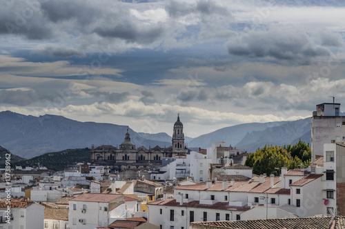 Vista panorámica de la ciudad de Jaén con la catedral renacentista al centro