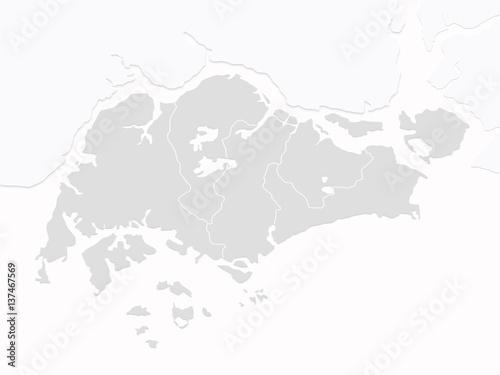Wallpaper Mural Singapore Map