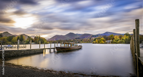 Canvastavla Derwent water in the District Lake, amazing landscape