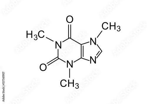 Stampa su Tela caffeine chemical formula