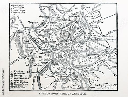 Obraz na plátně map of ancient Rome