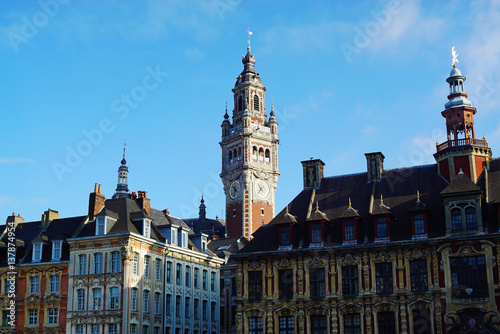 Fotografia View of the belfry of Lille, France.