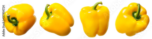 Fotografia Sweet yellow pepper isolated on white background