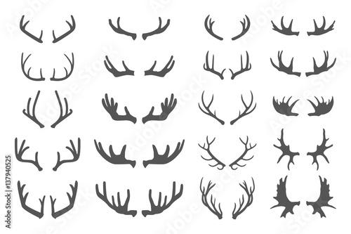 Murais de parede Deer antlers set.