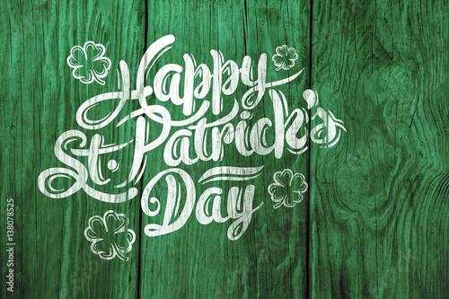 Fotografia Digital composite of Patricks day greeting