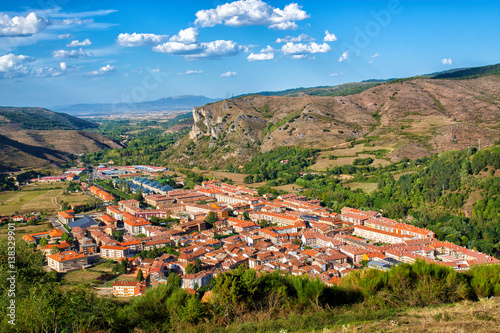 View of Ezcaray town in La Rioja, Spain.