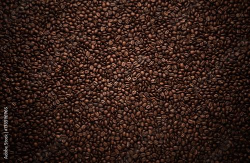Fotografia, Obraz Texture of coffee beans