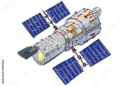 Fotografia, Obraz satellite - cartoon