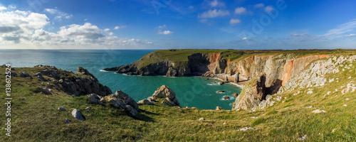 Stampa su Tela Flimston Bay, near Castlemartin and Merrion, Pembrokeshire, Wales, UK
