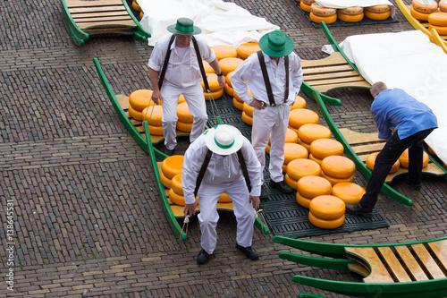 Canvas Print Mercato del formaggio, Alkmaar, Olanda