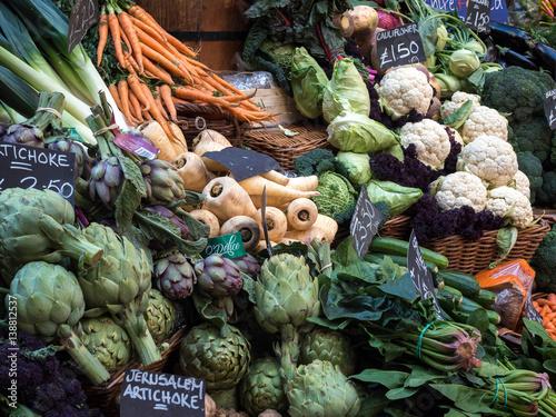 Tableau sur Toile Vegetables for Sale in Borough Market