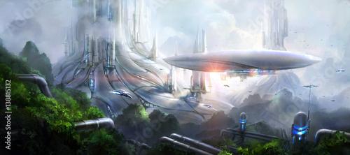 Obraz na płótnie Science fiction scene.