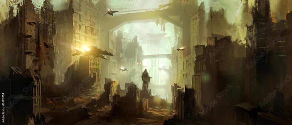 Scena science fiction. <span>plik: #138815754 | autor: liuzishan</span>