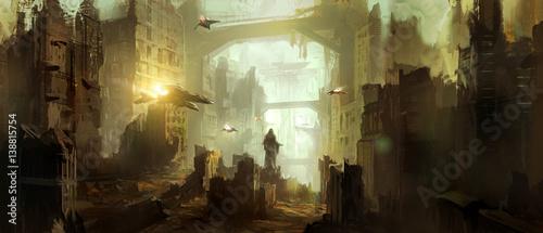 Fotografie, Obraz Science fiction scene.