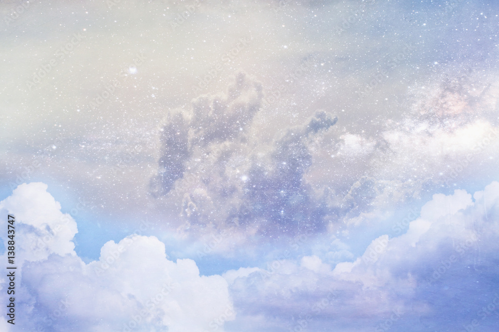 Artistic rendition of clouds and space using