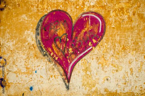 Piękne Serce Wzorzyste Graffiti