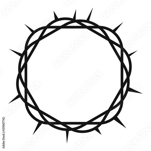 Stampa su Tela Crown of thorns icon , simple style