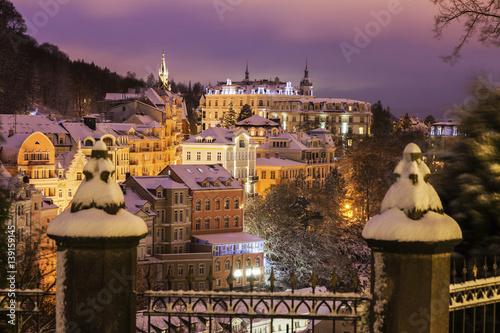 Carta da parati Winter in Karlovy Vary
