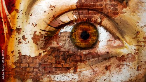 Street art, oeil droit