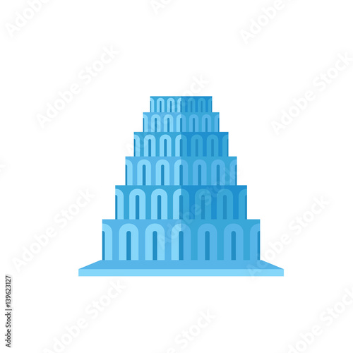 Canvastavla Tower of Babel vector icon