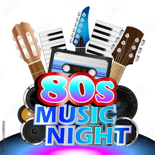 Eighties Music Night Background