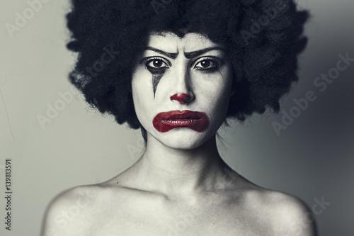 Fotografia, Obraz Pagliaccio triste_2