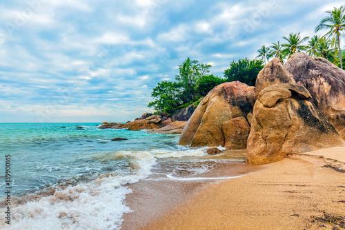 Foto Morning at Coral Cove beach. Koh Samui, Thailand.