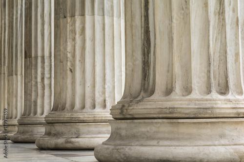 Valokuvatapetti Colonnade of  Ionic order columns, close up.