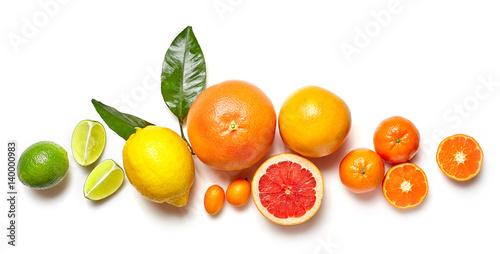 Leinwand Poster Verschiedene Zitrusfrüchte