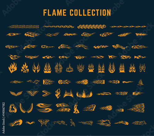 Photo flame decoration collection